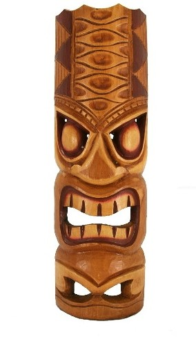 "20"" Hawaiian Yellow Tiki Mask"