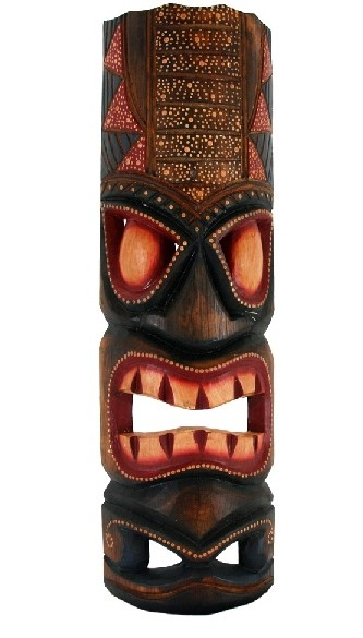 "20"" Hawaiian Dot Tiki Mask"