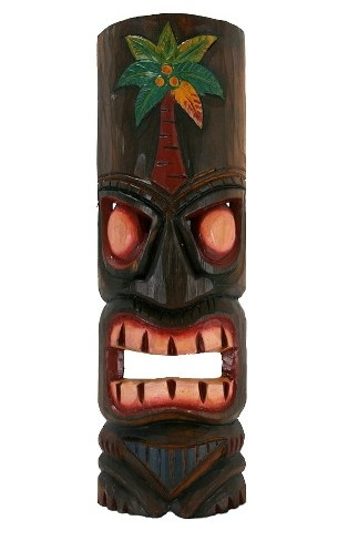 "20"" Palm Tree Tiki Mask"