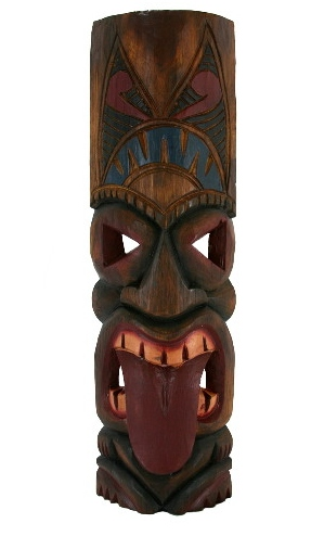 "20"" Tahitian Tongue Tiki Mask"
