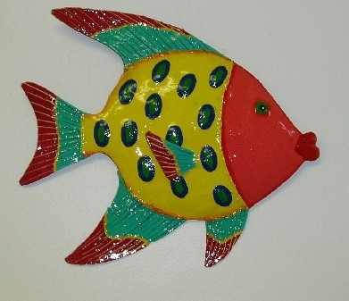 13in Metal Red Face Funky Angelfish